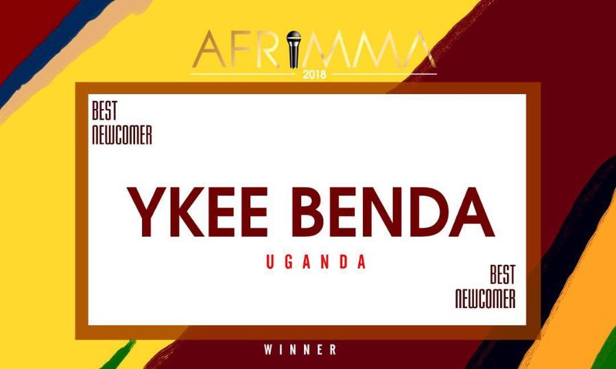 Benda wins BEST NEWCOMER at AFRIMMAs
